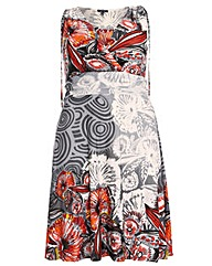Samya Multi Print V Neck Dress