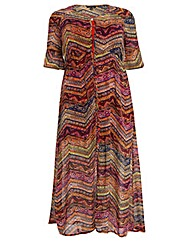 Samya Sort Sleeve Maxi Dress