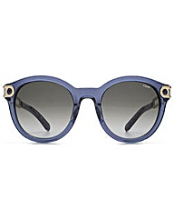 Chloe Metal Temple Round Sunglasses