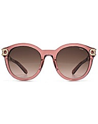 Chloe Metal Temple Round Sunglasses