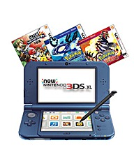 Nintendo XL Blue 3 Game Bundle