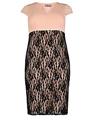 Praslin Lace Scuba Dress