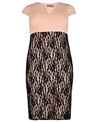 Praslin Lace Scuba Dress