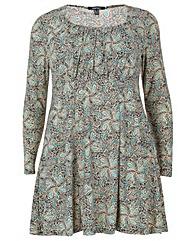 Samya Long Sleeve Printed Dress