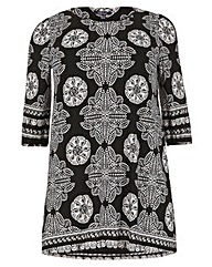 Samya Sleeve Multi Print Dress