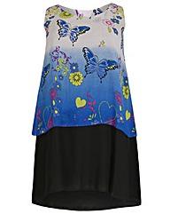 emily Split Back Layered Dress