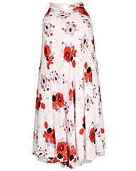 emily Bold Floral Swing Dress