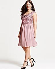 Little Mistress Dusty Pink Prom Dress