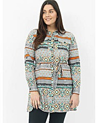 Koko Aztec Shirt Dress