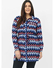 Koko Zig Zag Shirt Dress