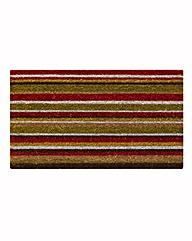 Multi Stripe Coir Door Mat