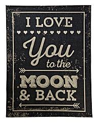 Love You to the Moon Flatweave Rug
