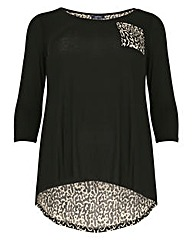 Samya Leopard Print Pocket Jumper