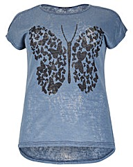 Samya Butterfly Print Top