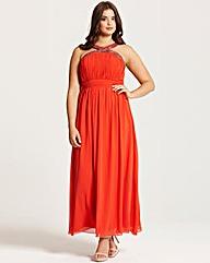 Little Mistress Orange Maxi Dress