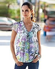 Together Butterfly Print Top