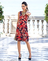 Together Wrap Front Print Dress