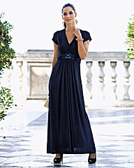 Together Jewel Trim Maxi Dress