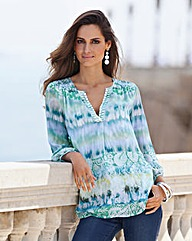 Together Jewel Trim Print Tunic
