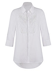 JOANNA HOPE Lace Bib Blouse