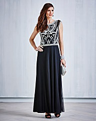 JOANNA HOPE Bead-Trim Maxi Dress