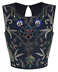 JOANNA HOPE Embellished Shell Top
