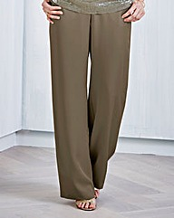 JOANNA HOPE Straight-Leg Tencel Trousers
