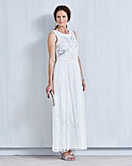 JOANNA HOPE Lace Bead-Trim Maxi Dress