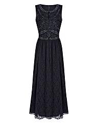 JOANNA HOPE Lace Bead-Trim Maxi Dress