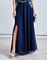 JOANNA HOPE Bead-Trim Maxi Skirt