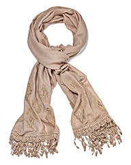 JOANNA HOPE Embroidered Scarf