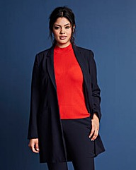 Mix-and-Match Longline Blazer