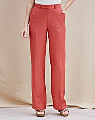 JOANNA HOPE Linen-Blend Trousers 31in
