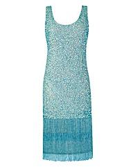 Joanna Hope Sequin Fringe Dress
