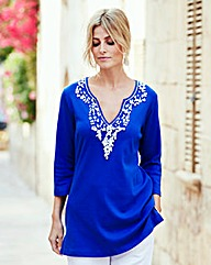 Joanna Hope Bead-Trim Tunic
