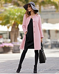 Together Collarless Coat
