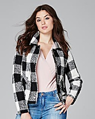 Lightweight Textured Short Coat