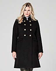 Double Breasted Military Coat