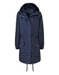 Navy Spot PacAParka Lightweight Jacket