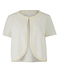 JOANNA HOPE Jewel Trim Cardigan