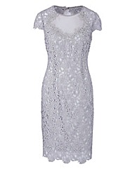 JOANNA HOPE Short Sleeve Lace Dress