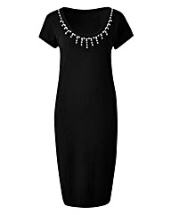 Joanna Hope Bead Trim Jumper Dress