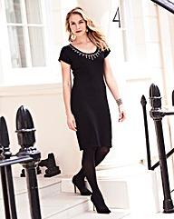 Joanna Hope Bead Trim Jumper Dress