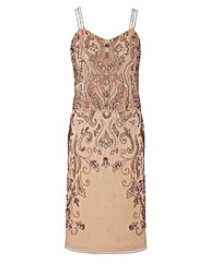 JOANNA HOPE Beaded Overlay Dress