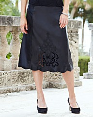 JOANNA HOPE Embroidered PU Skirt