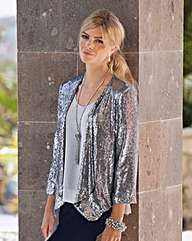 TOGETHER SEQUIN WATERFALL JACKET
