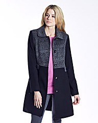 Animal Colour Block Coat
