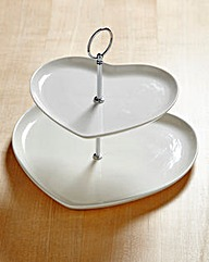 Country Heart 2-Tier Cake Stand