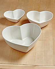 Country Hearts Set of 3 Serving Dishes