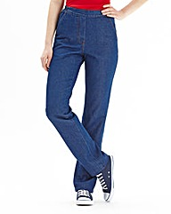 Suzy Pull On Cotton Jeans Length 25in